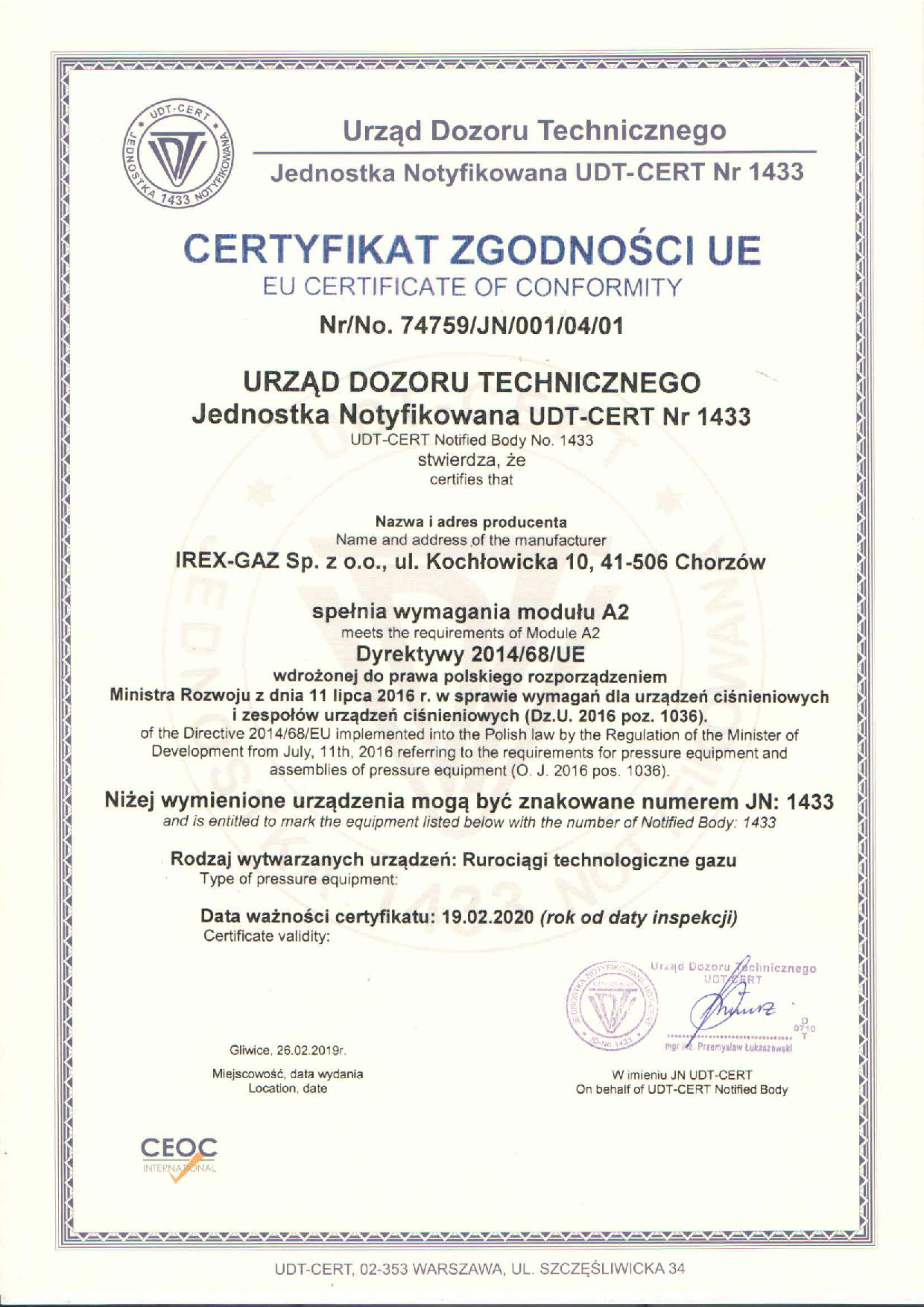 UDT - wymagania modułu A2_1